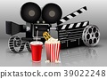 Film, popcorn and drink 39022248