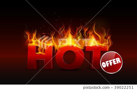 Concept of hot deal design 39022251
