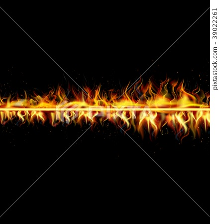 Fire flame on black background 39022261