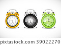Alarm clock on a white background 39022270