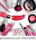 Sets of cosmetics on gray background 39022665