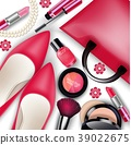 Sets of cosmetics on isolated background 39022675