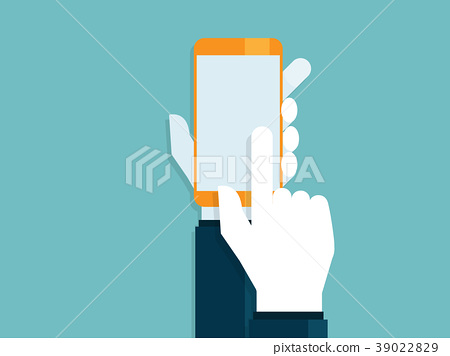 human hands with touching smartphone 39022829
