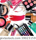 Sets of cosmetics on isolated background 39023159