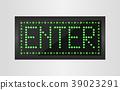 Enter light sign background 39023291