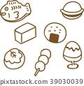 逗人喜爱的日本甜点例证材料 39030039