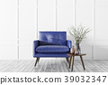 Modern interior with armchair and coffee table 3d 39032347