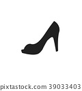 Elegant women high heel shoe vector 39033403