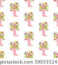 Spring flowers seamless pattern 39033524