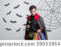 Vampire Halloween Concept - Happy handsome 39033954