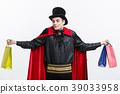 Vampire Halloween Concept - Happy handsome 39033958