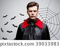Vampire Halloween Concept - Portrait of Angry 39033983