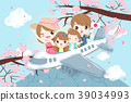 cartoon family travel in japan 39034993