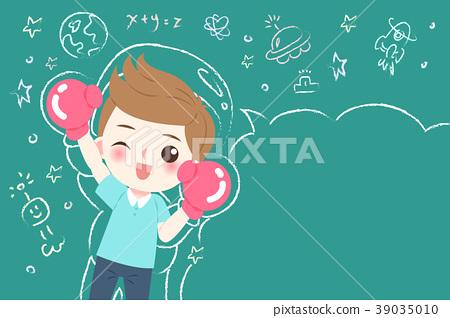 cute cartoon boy student 39035010