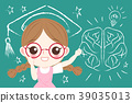 cute cartoon girl student 39035013