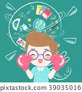 boy cartoon student 39035016