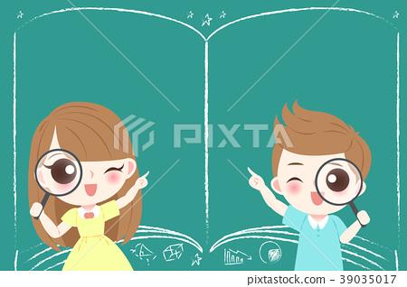 cute cartoon students 39035017