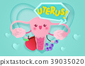 cute cartoon uterus 39035020