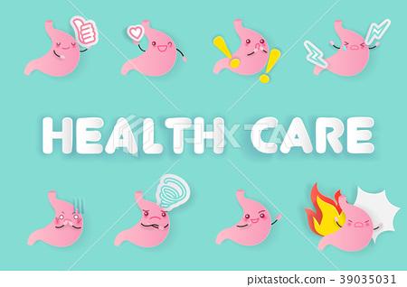 cute cartoon stomach 39035031