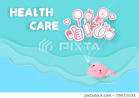 cute cartoon liver 39035032