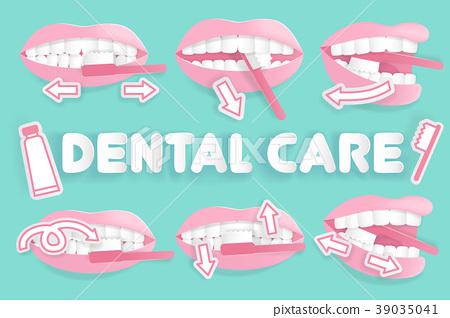 how to brush teeth 39035041