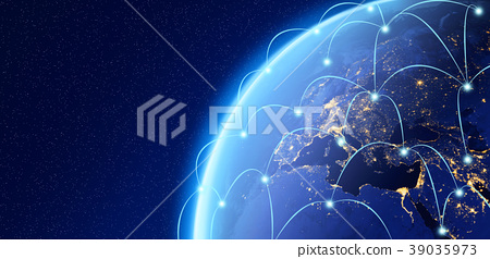 Planet earth, Internet Concept of global business, connection sy 39035973