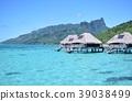 타히티 모레아 섬의 해상 별장 39038499