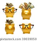 银行 河岸 硬币 39039050