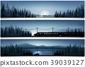 Horizontal banners with the high speed train and c 39039127