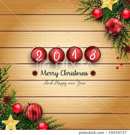 2018 merry christmas and happy new year with red b 39039737