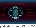 Fingerprint Scanning Technology Concept Illustrati 39039754