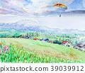 滑翔伞 风景 羊蹄山 39039912