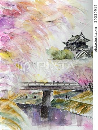 Okazaki城堡公園櫻花愛知縣 39039913