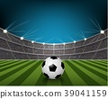 Soccer ball on the field of stadium with light 39041159