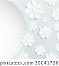 Beautiful wreath of spring flowers, white daisies 39041736