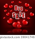 Valentines day with sale background 39041746