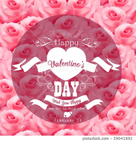 Valentine pink roses background with a close up vi 39041892