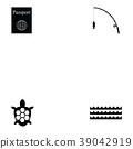 Island icon set 39042919