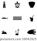 Island icon set 39042925