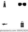 Island icon set 39042926