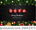Merry christmas and happy new 2018 year with red c 39042973
