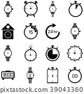 watch icon set 39043360