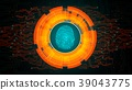 Orange light abstract technology background for co 39043775