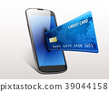 Internet shopping concept smartphone with credit c 39044158