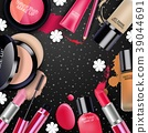 Sets of cosmetics on black background 39044691