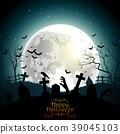 halloween background hand 39045103