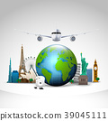 Travel of the world background 39045111
