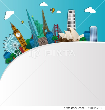 Famous monuments of the world. Symbol 39045202
