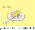lemon cake with poppy seeds and sugar glaze vector 39045418
