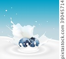 Milk splash with blueberry 39045714